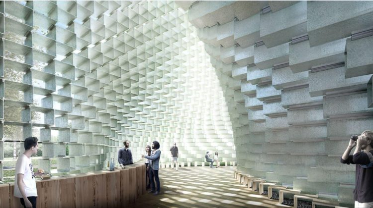 Serpentine Pavilion 2016 designed by Bjarke Ingels Group (BIG) Design render© Bjarke Ingels Group (BIG)